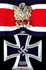 German Knights Cross of the Iron Cross with oak leaves swords