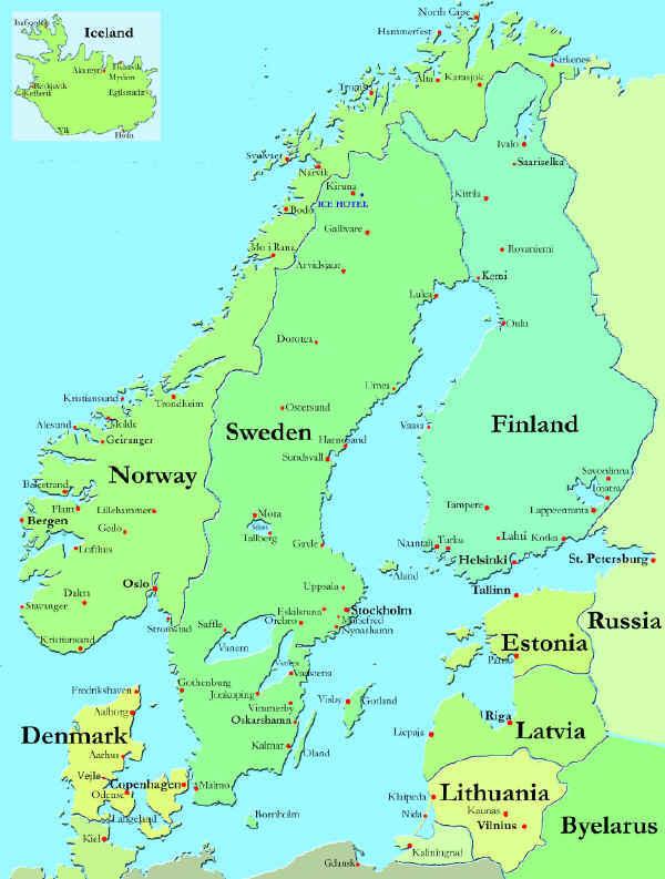 scandinavia baltic map