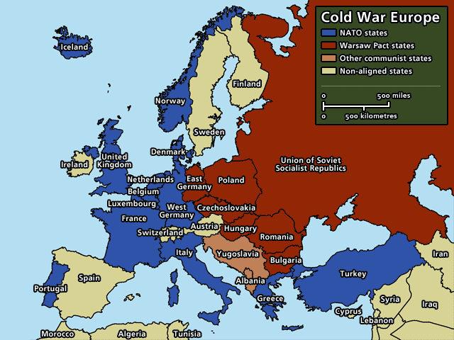 cold war europe map – John de Nugent