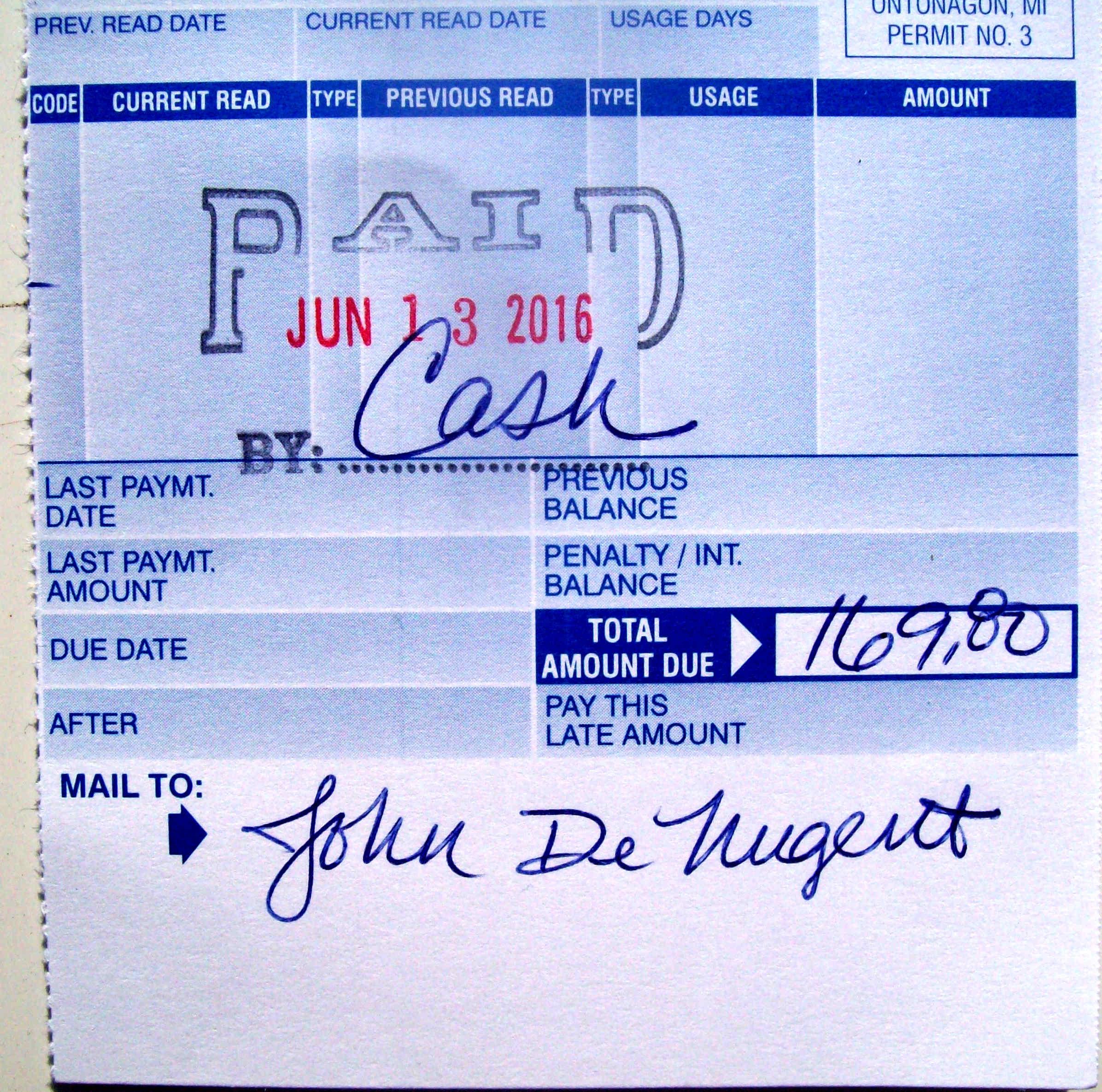 water-bill-paid-ontonagon – John de Nugent
